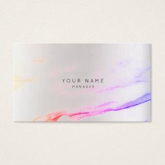 Abstrakte Farben-grauer Visitenkarten