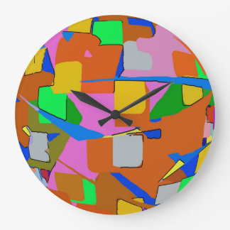 Abstrakte Farben Große Wanduhr