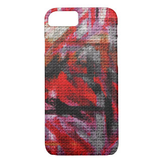 Abstrakte Farbfarben-Bürsten-rustikale Leinwand iPhone 8/7 Hülle