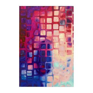 Abstrakte Fliesen-rote Wand-Kunst Acryldruck