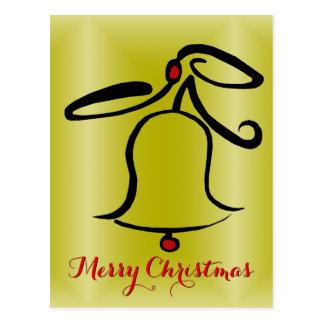 Abstrakte frohe Weihnacht-Postkarte Weihnachtsbell Postkarte