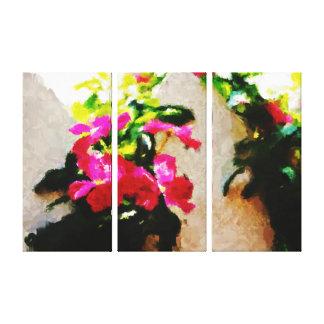 Abstrakte Frühlings-Blumen der Malerei-| Galerie Gefaltete Leinwand
