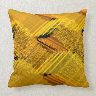 Abstrakte gelbe Linien Kissen
