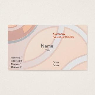 Abstrakte Geschäfts-Karten-Lachsschablone Visitenkarten
