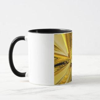 Abstrakte Goldringe Tasse