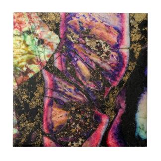 Abstrakte Graffiti-Seesediment-Achat-Makrofliese Fliese