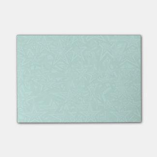 Abstrakte grüne konzentrische Sterne Post-it Klebezettel