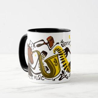 Abstrakte Jazz-Tasse Tasse