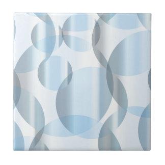 Abstrakte kalte blaue Kreise Kleine Quadratische Fliese