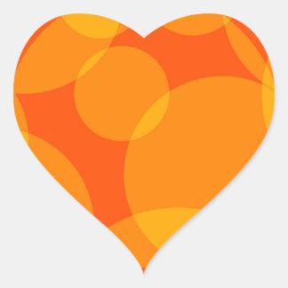 Abstrakte Kreise Herz-Aufkleber