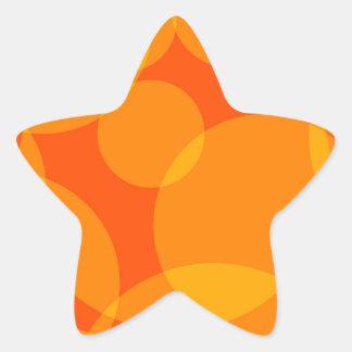 Abstrakte Kreise Stern-Aufkleber