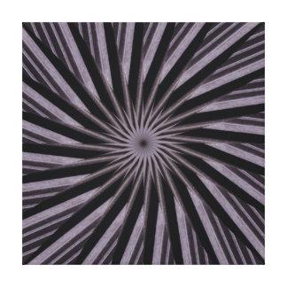 Abstrakte Kunst der Schwarz-weißen und grauen Gespannter Galerie Druck