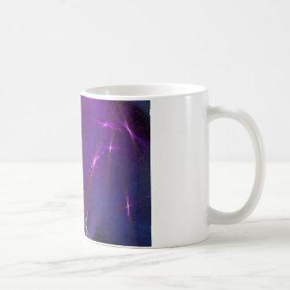 Abstrakte Kunst des lila Nebelflecks Tasse
