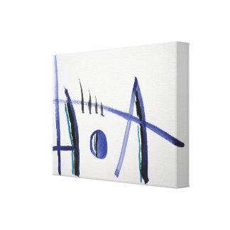 Abstrakte Kunst-lila und schwarze Linie Malerei-Le Gespannter Galeriedruck
