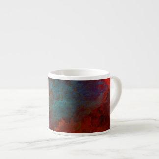 Abstrakte Kunst Rot, Aquau. Goldgrunge-Digital Espressotassen