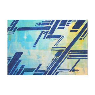 abstrakte Malerei - blau Gespannter Galeriedruck