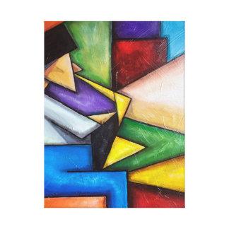 Abstrakte Malerei des Saxspielers Galerie Faltleinwand