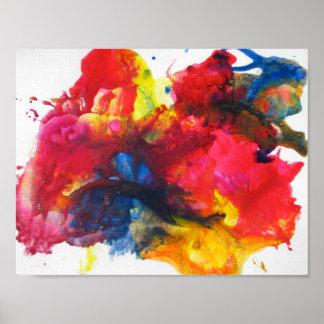 Abstrakte Malerei Poster