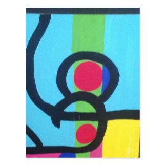 Abstrakte Malerei Postkarte