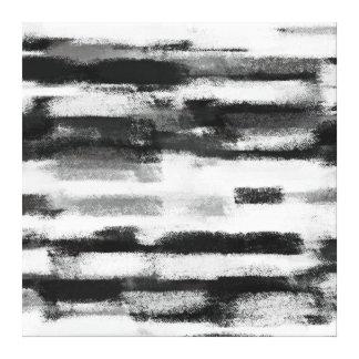 Abstrakte Malerei | Schwarzweiss Gespannte Galerie Drucke