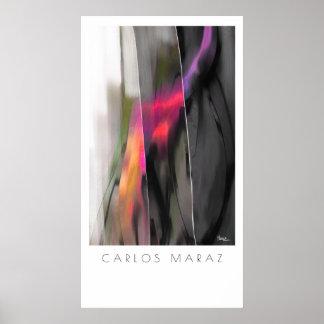 Abstrakte Malerei vom Kunst-Druck Carlos Maraz Poster