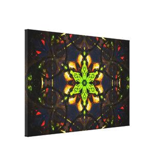 Abstrakte Mandala-Kunst Galerie Falt Leinwand