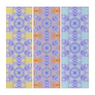 Abstrakte Mandala-Malerei Triptychon
