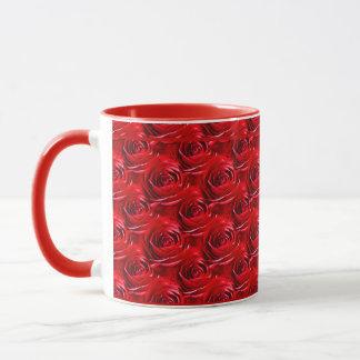 Abstrakte Mitte der Rosen-Tapete Tasse