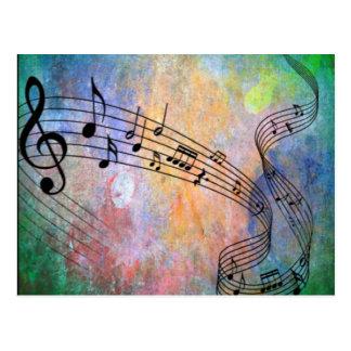 abstrakte Musik Postkarten