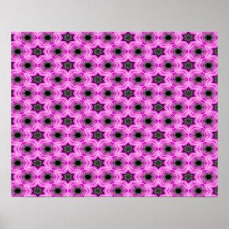 Abstrakte Muster-Flieder und dunkelgrauer Poster