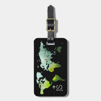 abstrakte personalisierte Reise der Weltkarte Gepäckanhänger