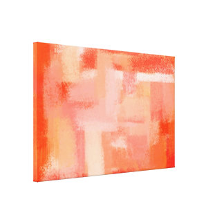 Abstrakte Retro Orange der Malerei-| Leinwanddrucke