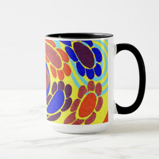 Abstrakte Retro Pop-Kunst-Art-Blumen Tasse