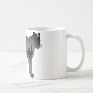 Abstrakte Schneeleopard-Silhouette Kaffeetasse
