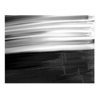 Abstrakte Schwarz-weiße Watercolor Brushstrokes Postkarte