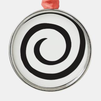 Abstrakte Spirale Rundes Silberfarbenes Ornament