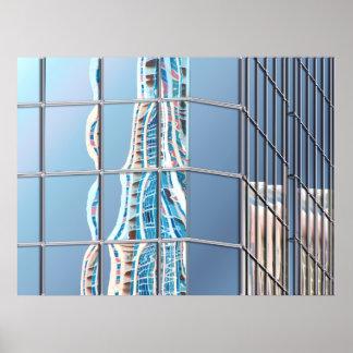 Abstrakte Stadt-Architektur Poster