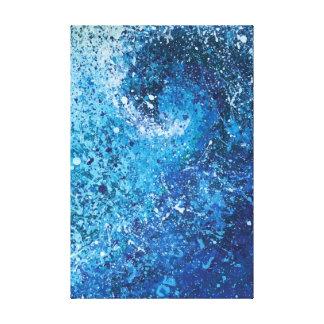 Abstrakte Strand-Wellen-feine Kunst-Malerei Leinwanddruck