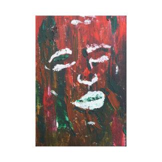 abstrakte strukturierte Gesichtsmalerei Leinwanddrucke