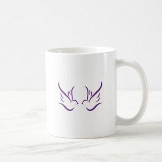 Abstrakte Tauben Kaffeetasse