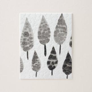 Abstrakte Tinten-Fleck-Bäume Puzzle