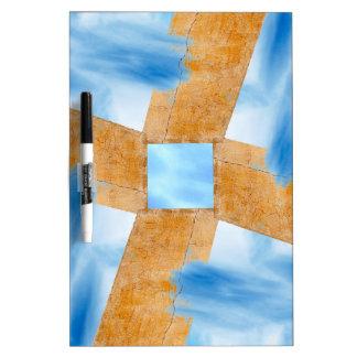 Abstrakte Wand und Himmel Trockenlöschtafel
