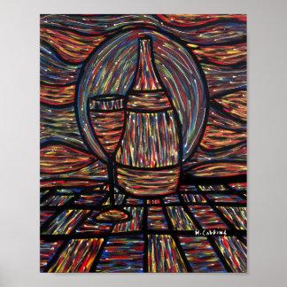 Abstrakte Wein-Malerei Poster