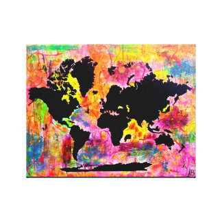 Abstrakte Weltkarte Leinwanddruck
