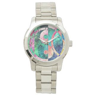 Abstrakte Yin Yang Nebelfleck-Armbanduhr Armbanduhr