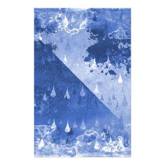 Abstrakter blauer Regen-Tropfen-Entwurf Briefpapier