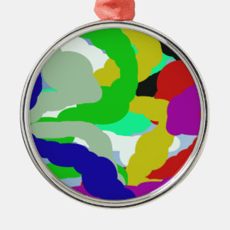 abstrakter Entwurf bunte 64329 Rundes Silberfarbenes Ornament