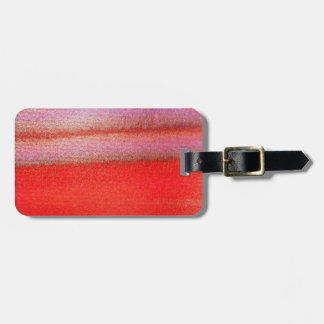 Abstrakter Gorden roter Gepäck-Umbau mit ledernem Kofferanhänger