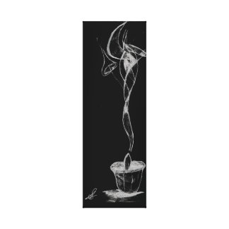 Abstrakter Kerzen-Rauch Gespannte Galerie Drucke