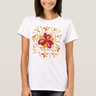 Abstrakter Klee im Rosa und im Gelb T-Shirt